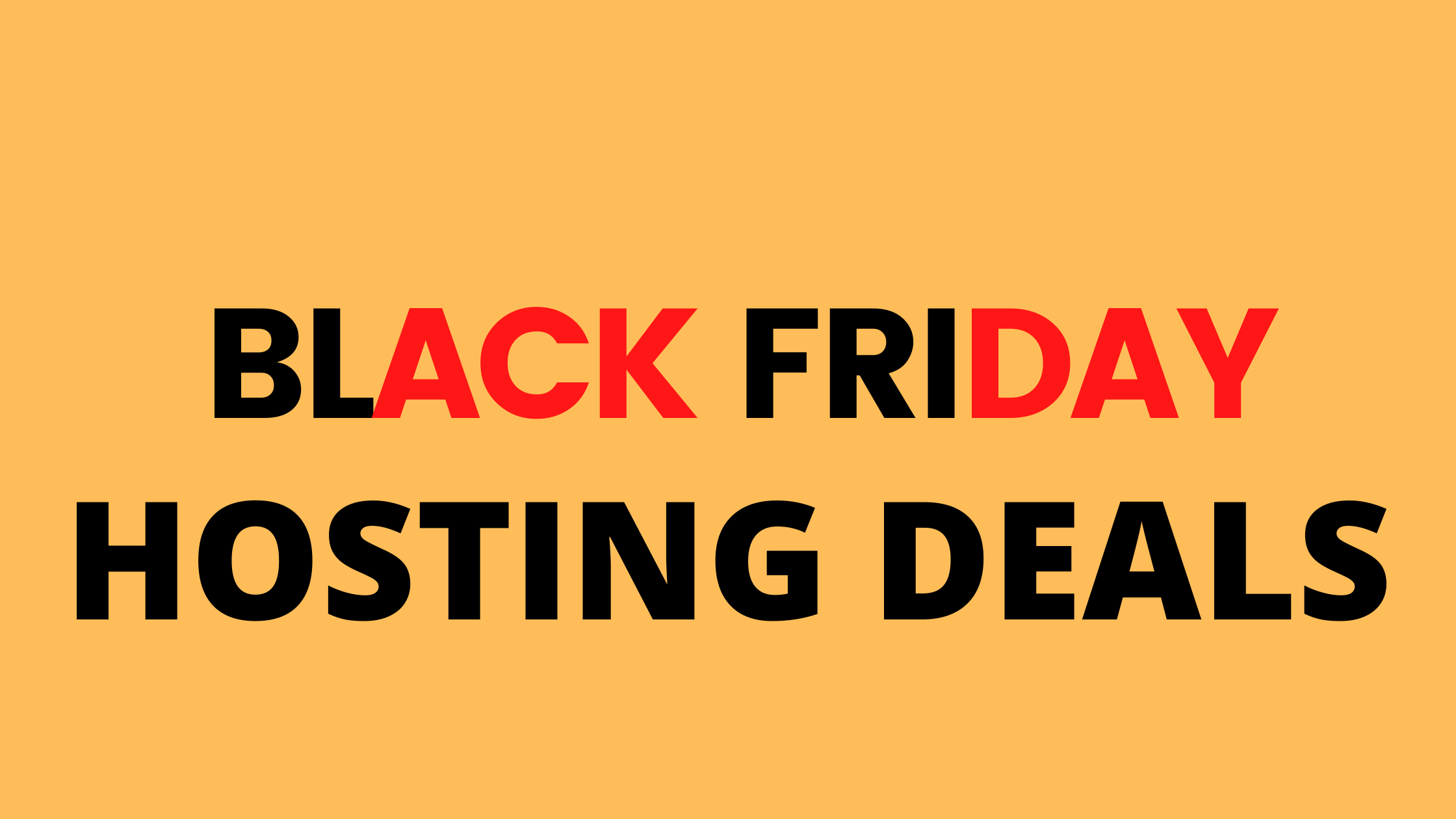 BEST HOSTING BLACK FRIDAY DEALS 2020